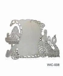 Pure Silver Radha Krishna Wedding Card