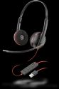 Plantronics Black Wire C3220 USB Headsets