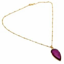 Pink Tourmaline Hydro Gemstone Necklace