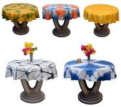 Solid Dyeing Table Round Cotton Tablecloth Covers