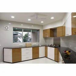 L Shape Modular Kitchen Design Service