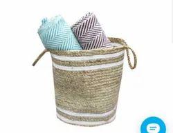 Indian Handmade Jute Braided Multipurpose Baskets