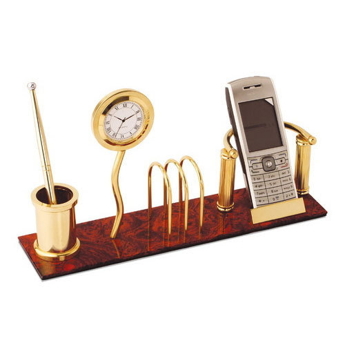 Brown Wooden Pen Stand, Size: 26*9.8*18.3 Cm