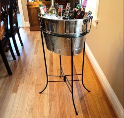 Beverage Tub With Iron Stand