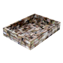 Rawsome Shack Brown Mother Of Pearl Rectangular Tray