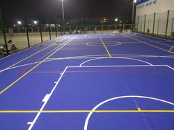 Basketball Court acrylic flooring contractor