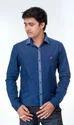 Cotton Blue New Trend Shirt, Button