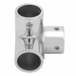 Silver Glossy Pipe socket / SS Corner socket
