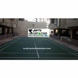 Waterproof Acrylic Synthetic Badminton Court Flooring Service