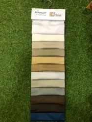 Blackout Fabric Plain 54'' 260 GSM 100% Polyester For Curtain