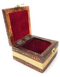 Ellora Square Jwellary Box, For Home, Size/Dimension: 4x3x4