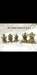Brass Brown Ganesh Statues, Size: 3