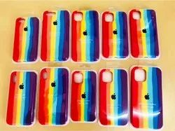 Fancy Mix Colour Silicon Cases For Apple Iphone 12