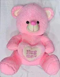 High Quality Recron Fiber Pink Hug Me Teddy Bear, 200 Gm