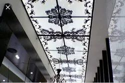 Designer Glass Ceiling Panel
