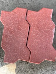 Grey Zigzag Zig Zag Cement Paver Block, Dimensions: 80 Mm