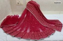 Designer Net Saree With Heavy Stone Work