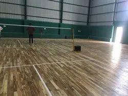 Indoor Wooden Badminton Court Flooring