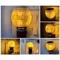 Non Stick Mother Of Pearl Aroma Burner With Night Lamp (free Delivery)