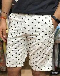 GREY GUYS Cross Pocket Printed Shorts Mens Knee Length Short, Model Name/Number: 2873