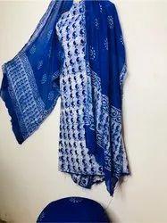 Batik Print Chiffon Dupatta Dress Material