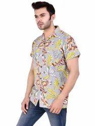 Mens Printed Cotton Shirt