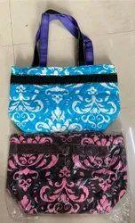 Cloth Handle Printed Cotton Handbag, Size/Dimension: Medium