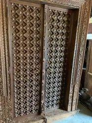 Brass Or Teak Wood Antique Doors