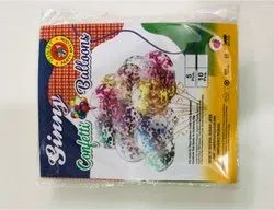 Parties And Birthday Latex Confetti Ballons, Packaging Type: Card, Size: 12 Inch