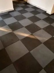 Rubber Gym Floor Tile, Thickness: 10-15 mm