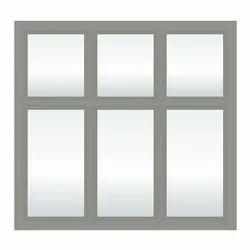 Modern Gray Tata Steel Windows, For Residential, Size/Dimension: 3x3 Feet