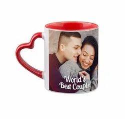 Heart Handle Mug Colored Mug