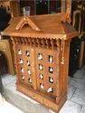 Teak Wooden Pooja Cupboard