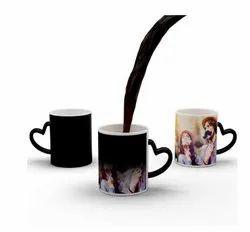 Heart Handle Black Magic Mug