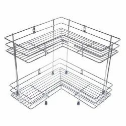 2 Layer L Shape Corner Stand, For Home