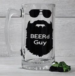 Sublimation Glass Beer Mug