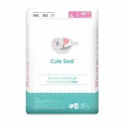 Cotton Baby Velcro Cute Seal Pant Pull Up Diaper, XL, Packaging Size: 42 Pieces