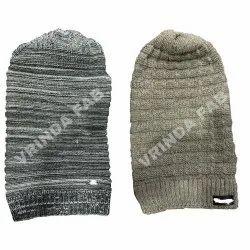混合羊毛长长的羊毛帽,尺寸:免费,冬季
