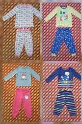 Printed Full Length Kids Night Wear Suit