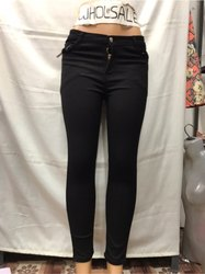 High Rise Black Ladies Jeans