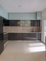 Lacquered Acrylic Glass Modular Kitchen