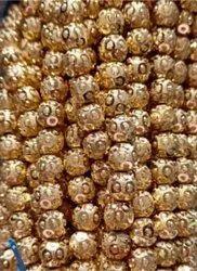 8Mm 3 Bindi Brass Beads
