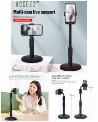 Plastic Black Mobile Table Stand, Size: Small