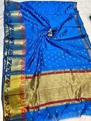 Party Wear Banarasi Silk Saree, 6 m (with blouse piece)