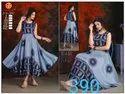 Rayon Anarkali Ladies Formal Wear Printed Kurti