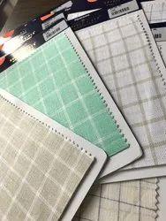 Stripes & Checks Formal Wear Linen Shirting Fabric By Siyarams (Summerspring Collection), Machine wash