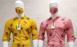 Casual Wear Printed Teetotaller Shirts