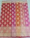 6.50 Meter Approx Pink Full Jari Sarees