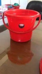 Colored Plain Plastic Bucket