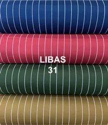 White Line Print Rayon Fabric